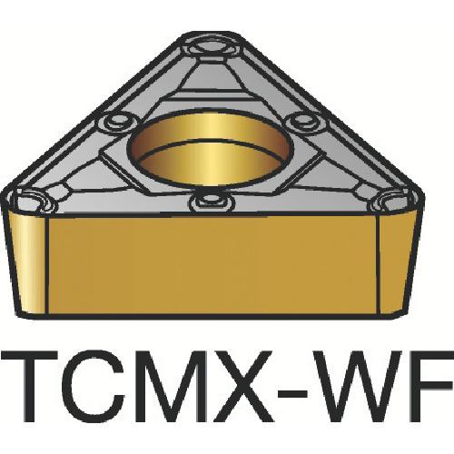 サンドビック コロターン107 旋削用ポジ・チップ 1115 10個 TCMX 11 03 04-WF:1115