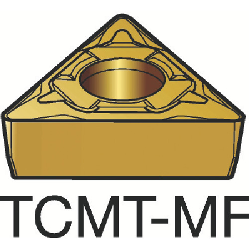 サンドビック コロターン107 旋削用ポジ・チップ 1125 10個 TCMT 06 T1 04-MF:1125