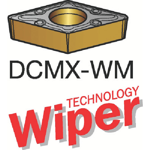 サンドビック コロターン107 旋削用ポジ・チップ 1115 10個 DCMX 11 T3 08-WM:1115