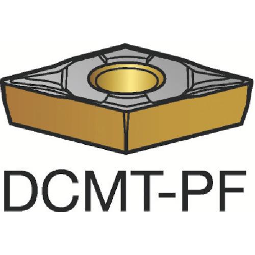 サンドビック コロターン107 旋削用ポジ・チップ 1515 10個 DCMT 07 02 04-PF:1515