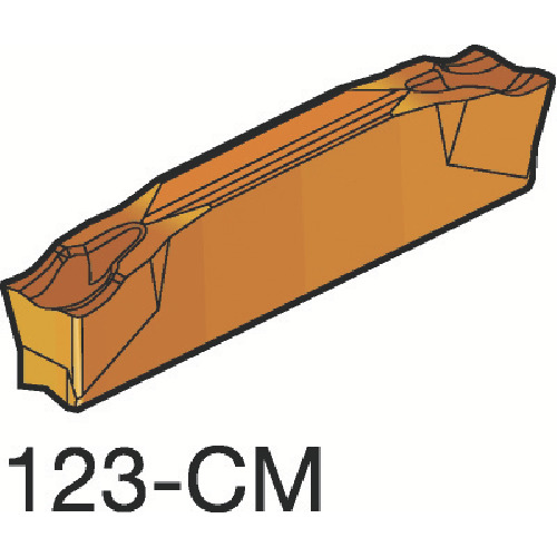 サンドビック コロカット2 突切り・溝入れチップ 1145 10個 N123F2-0250-0002-CM:1145