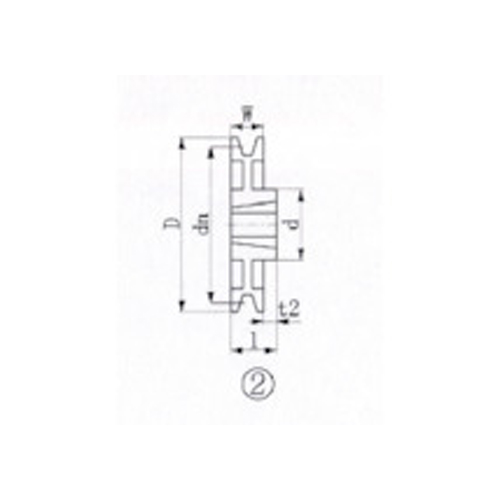 EVN ブッシングプーリー SPA 315mm 溝数1 SPA315-1