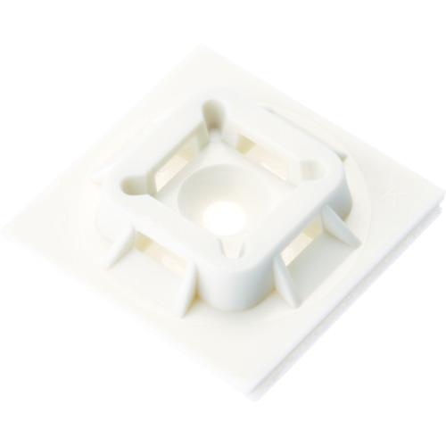 パンドウイット マウントベース ゴム系粘着テープ付き 白 (500個入) ABM100-A-D
