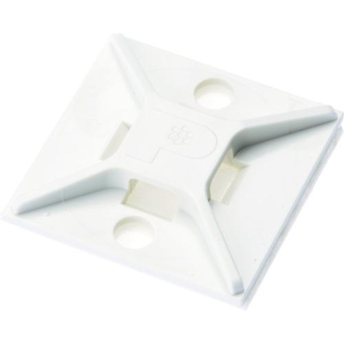 パンドウイット マウントベース アクリル系粘着テープ付き 白 (500個入) ABM2S-AT-D