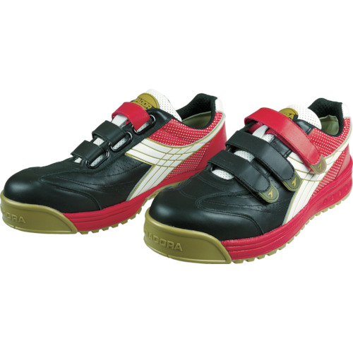ディアドラ DIADORA 安全作業靴 ロビン 黒/白/赤 25.0cm RB213-250