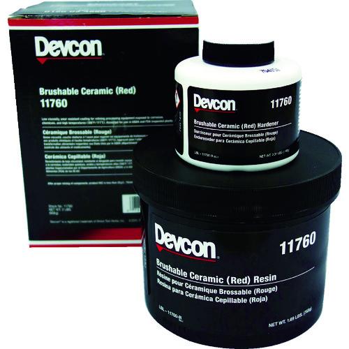 デブコン 耐蝕・耐摩耗補修剤 ブラッシャブルセラミック赤 2lb DV11760