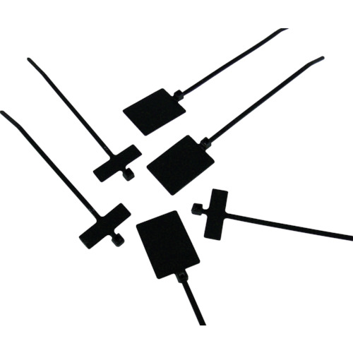 パンドウイット 旗型タイプナイロン結束バンド 耐候性黒 (500本入) PL3M2S-D0