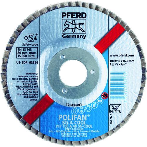 PFERD ポリファンフラップディスクSGA Φ100 #120 10枚 PFF100SGA941683