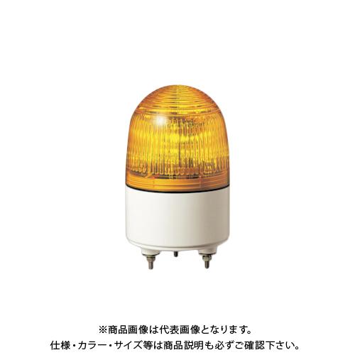 パトライト 小型LED表示灯 色:黄 PES-24A-Y
