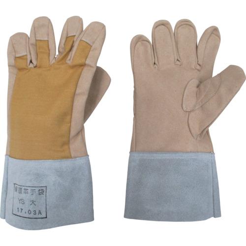 YOTSUGI 保護革手袋 甲部 メッシュ付き 小 YS-103-13-04