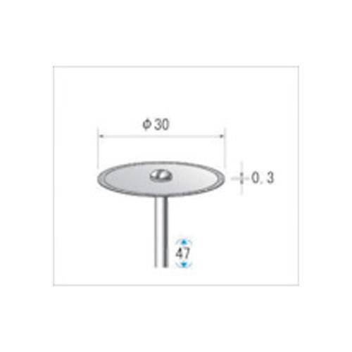 ナカニシ 電着ダイヤモンドディスク#100刃径30×刃長0.3×軸径2.34 14071