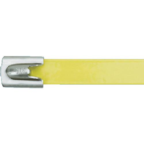 パンドウイット MLTタイプ フルコーティングステンレススチールバンド SUS316 黄 幅8.1mm 長さ201mm 50本入り MLTFC2H-LP316YL MLTFC2H-LP316YL