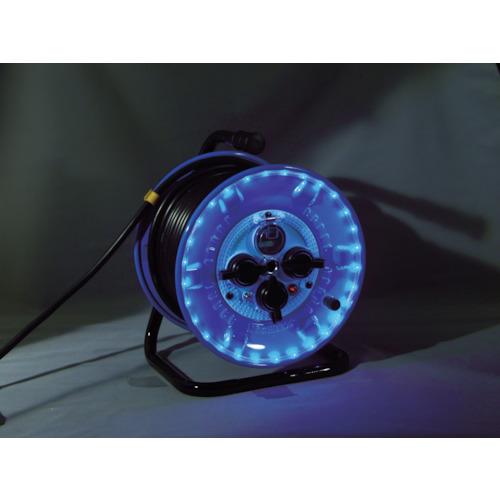 日動 防雨型電工ドラム LEDラインドラム 青 過負荷・漏電保護兼用 30m NPWL-EK33-B