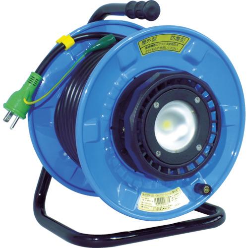 日動 電工ドラム 防雨防塵型LEDライトリール(照明付ドラム) 漏電保護専用 20m SDW-EB22-10W
