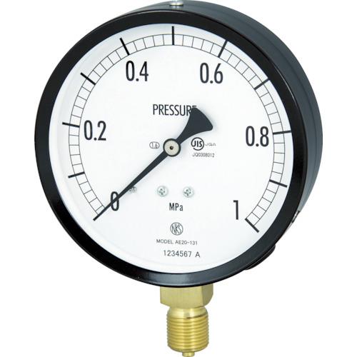 長野 普通形圧力計(A枠立形・φ100・G3/8B・0.0~6.00Mpa) AE20-131-6.0MP