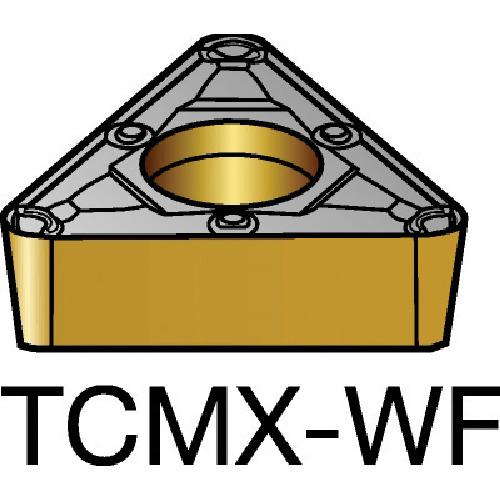サンドビック コロターン107 旋削用ポジ・チップ 5015 10個 TCMX 09 02 04-WF:5015