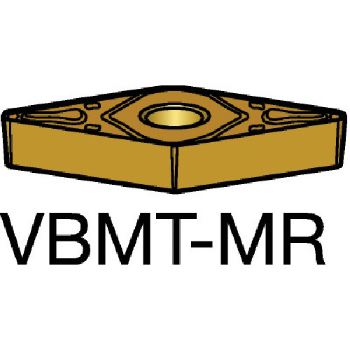 サンドビック コロターン107 旋削用ポジ・チップ 2015 10個 VBMT 16 04 08-MR:2015