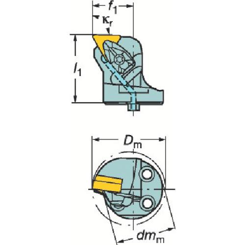 サンドビック コロターンSL コロターンRC用カッティングヘッド 570-DTFNL-40-16-L