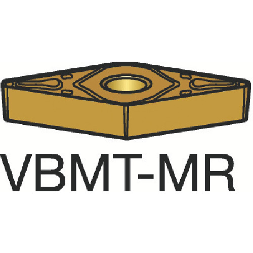 サンドビック コロターン107 旋削用ポジ・チップ 1105 10個 VBMT 16 04 12-MR:1105