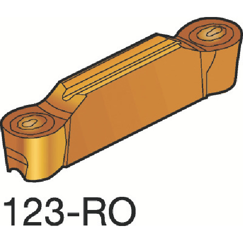 サンドビック コロカット2 突切り・溝入れチップ 1105 10個 N123L20800RO:1105