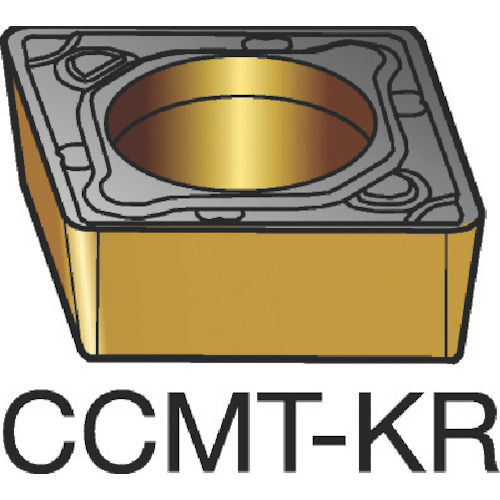 サンドビック コロターン107 旋削用ポジ・チップ H13A 10個 CCMT 12 04 12-KR:H13A