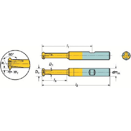 サンドビック コロミル326ソリッドエンドミル 1025 326R08-B25050VM-TH:1025