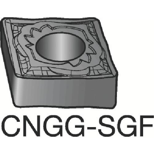 サンドビック T-Max P 旋削用ネガ・チップ H13A 10個 CNGG 12 04 04-SGF:H13A