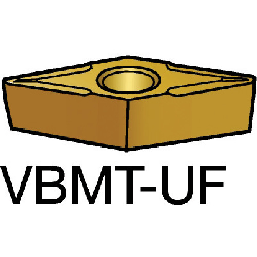 サンドビック コロターン107 旋削用ポジ・チップ 5015 10個 VBMT 11 02 02-UF:5015