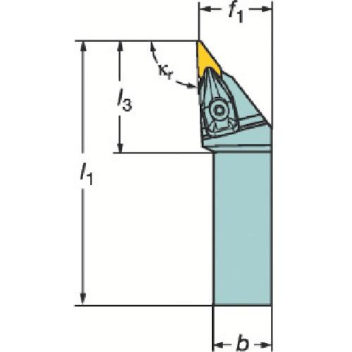 サンドビック コロターンRC ネガチップ用シャンクバイト DVJNR 2525M 16