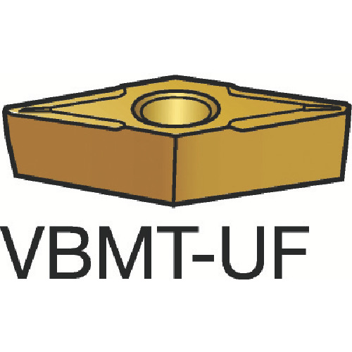 サンドビック コロターン107 旋削用ポジ・チップ 5015 10個 VBMT 11 02 04-UF:5015