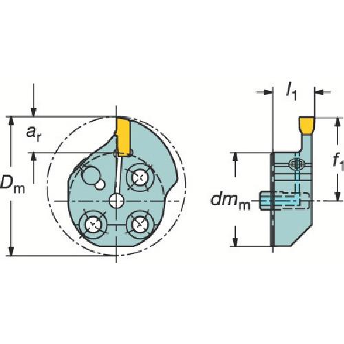サンドビック コロターンSL T-Max Q-カット用カッティングヘッド 570-40R151.3-09-50