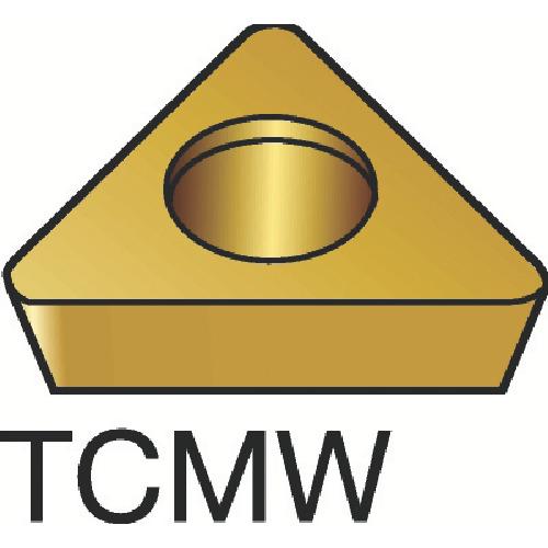 サンドビック コロターン107 旋削用ポジ・チップ H13A 10個 TCMW 16 T3 08:H13A