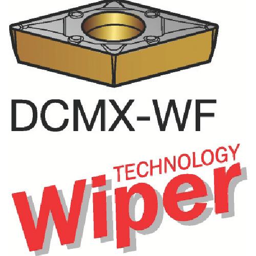 サンドビック コロターン107 旋削用ポジ・チップ 1525 10個 DCMX 11 T3 08-WF:1525