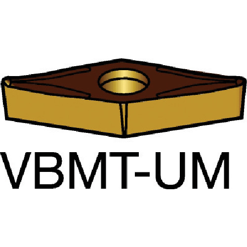 サンドビック コロターン107 旋削用ポジ・チップ 2025 10個 VBMT 16 04 04-UM:2025