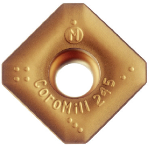 サンドビック コロミル245用チップ K20W 10個 R245-12 T3 M-KL:K20W