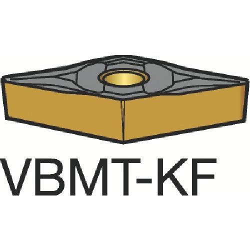 サンドビック コロターン107 旋削用ポジ・チップ H13A 10個 VBMT 16 04 08-KF:H13A