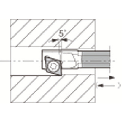 京セラ 内径加工用ホルダ C04X-SJZCR03-065