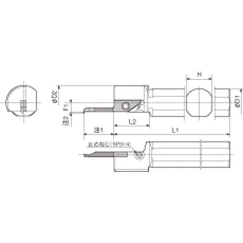 京セラ 内径加工用ホルダ S20H-SVNR12N