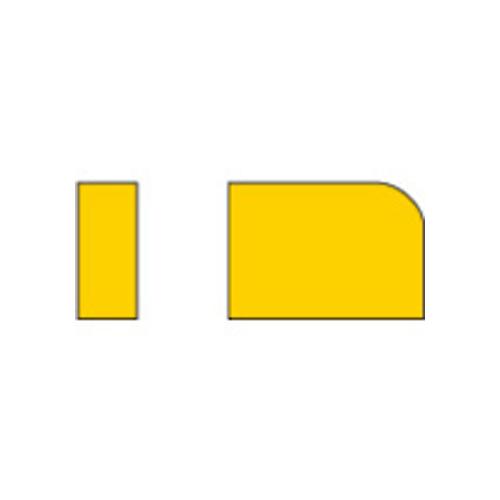 三菱 ろう付け工具 バイト用チップ 02形(41・42形用) HTI05T 10個 02-2:HTI05T