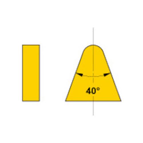 三菱 ろう付け工具 バイト用チップ 06形(36・39・40形用) HTI10 10個 06-3:HTI10