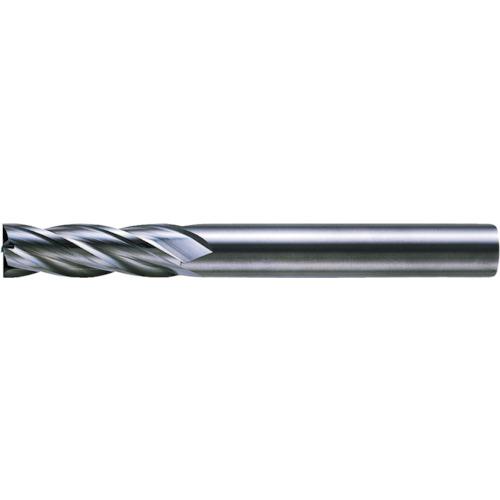 三菱K 4枚刃超硬センタカットエンドミル(セミロング刃長) ノンコート 10mm C4JCD1000
