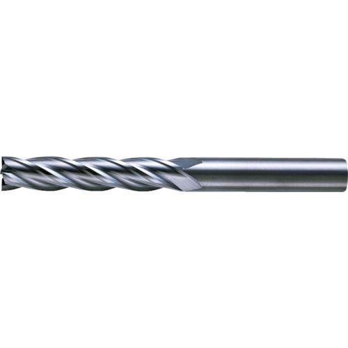 三菱K 4枚刃超硬センタカットエンドミル(ロング刃長) ノンコート 6mm C4LCD0600