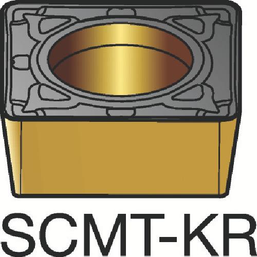 サンドビック コロターン107 旋削用ポジ・チップ 3205 10個 SCMT 12 04 08-KR:3205