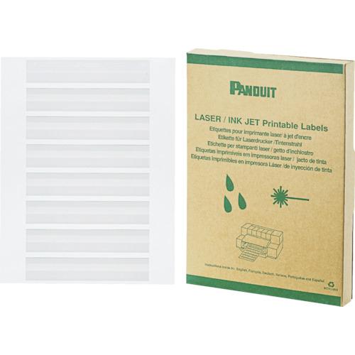 パンドウイット レーザープリンタ用回転ラベル 白 印字部25.4mmX6.4mm ラベル数2500枚 R100X075X1J R100X075X1J
