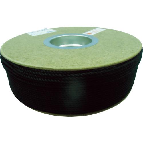 ユタカメイク ポリエステルロープ ドラム巻 3φ×300m 黒 PRS-71