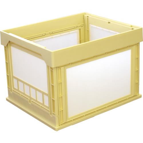 KUNIMORI プラスチック折畳みコンテナ パタコン N-107 イエロー 50191-N107-YE