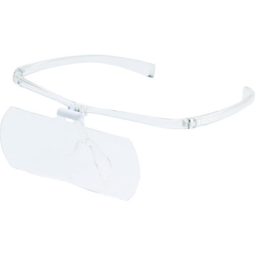 TRUSCO 双眼メガネルーペ1.6/2/2.3倍セット フレーム透明 TSM-SET-TM
