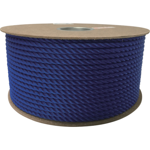 ユタカメイク ポリエチレンロープドラム巻 9mm×150m ブルー PRE-52