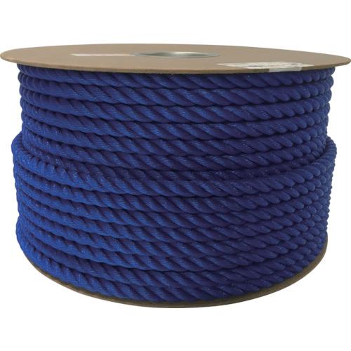 ユタカメイク ポリエチレンロープドラム巻 12mm×100m ブルー PRE-62