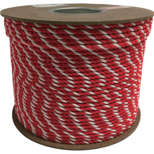 ユタカメイク アクリル紅白ロープ 6mm×200m PRZ-10